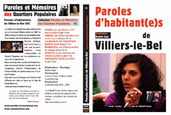 "Le DVD ""Paroles d'habitant(e)s de Villers-le-Bel"""